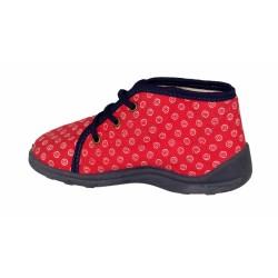Buty zimowe trekkingowe damskie 86400 czerwone