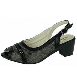 Botki półbuty buty damskie nh02 czarne
