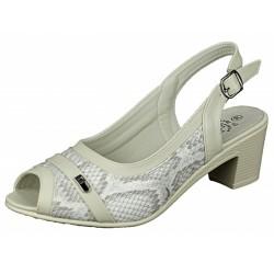 Botki półbuty buty damskie pasek nh02 beż