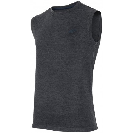 Koszulka bez rękawów fit 4f tsm001 ciem.szary