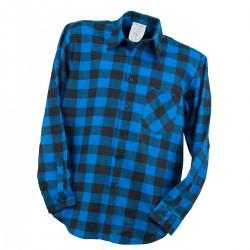 Bhp koszula flanelowa robocza urgent niebieski
