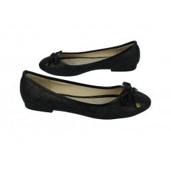 Balerinki baleriny buty damskie 3105 black