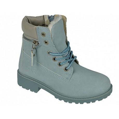 Buty zimowe dziecięce trzewiki 86400 l.blue