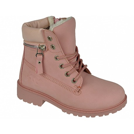 Buty zimowe dziecięce trzewiki 86400 pink