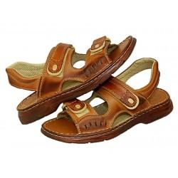 łukpol skórzane sandały klapki skóra 812