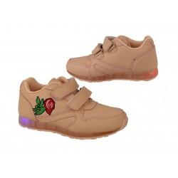 Buty dziecięce świecące led 7489 pink