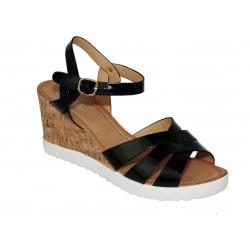 Sandały paski damskie letnie koturn 7132 blc